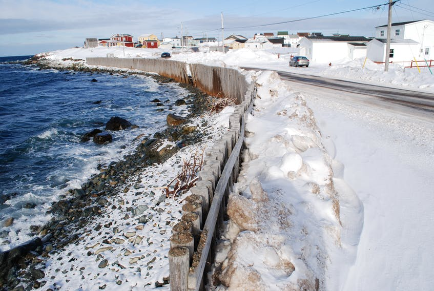 Damage to the sea fences at Red Point in Bonavista. JONATHAN PARSONS PHOTO