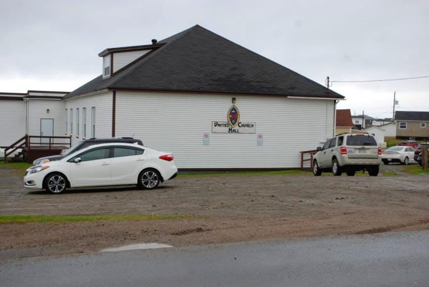 The United Church Hall, one of the two polling stations in Bonavista.
