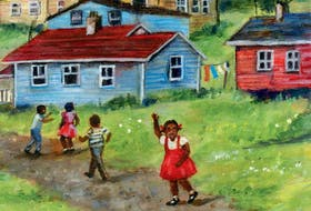 Cover of the children's picture book Africville, by Halifax author Shauntay Grant, illustrated by Eva Campbell.