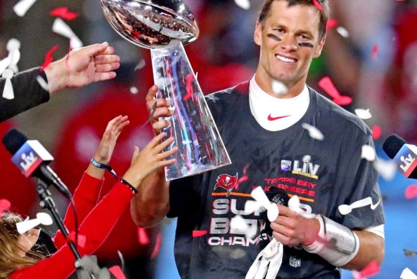 Tampa Bay Buccaneers quarterback and Super Bowl champ Tom Brady says he'd like to play into his late 40s.USA TODAY