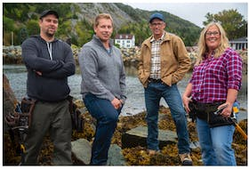 """The crew at Newfound Builders in Brigus are the subject of a new HGTV Canada series called """"Rock Solid Builds."""" Pictured are (from left) Paul Earle, Randy Spracklin, Scott Spracklin and Nikki Spracklin. Photo courtesy HGTV Canada"""