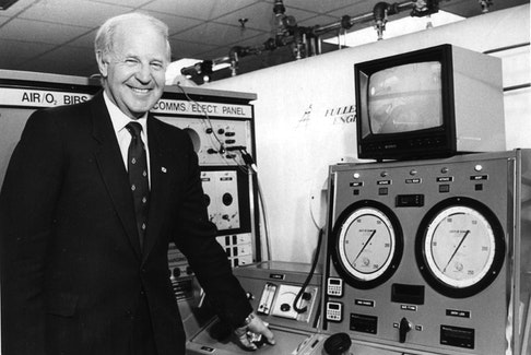 Nova Scotia Premier John Buchanan was on hand Monday, June 26, 1984 at the Victoria General Hospital in Halifax for the opening of a new hyperbaric oxygen unit. - Herald file