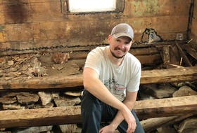 Upper Island Cove's Walter Lynch is in the middle of restoring a 100-year-old home in Brigus. Contributed photo