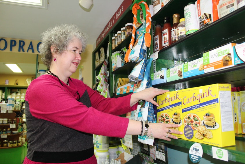 The popularity of locally sourced products has helped Charlene's Nutrition Centre maintain a stable business throughout the pandemic. The business was started by Charlene Anderson, seen here, and her husband Robert almost 24 years ago. GREG MCNEIL/CAPE BRETON POST