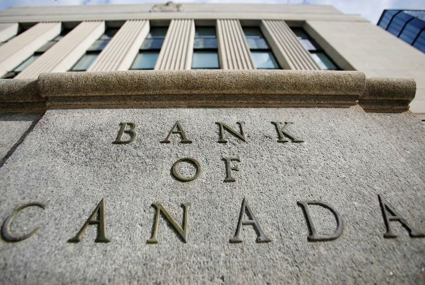 A sign is pictured outside the Bank of Canada building in Ottawa, Ontario, Canada, May 23, 2017.