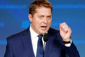 Conservative leader Andrew Scheer addresses supporters after he lost to Justin Trudeau in the federal election, in Regina on Oct. 21, 2019.