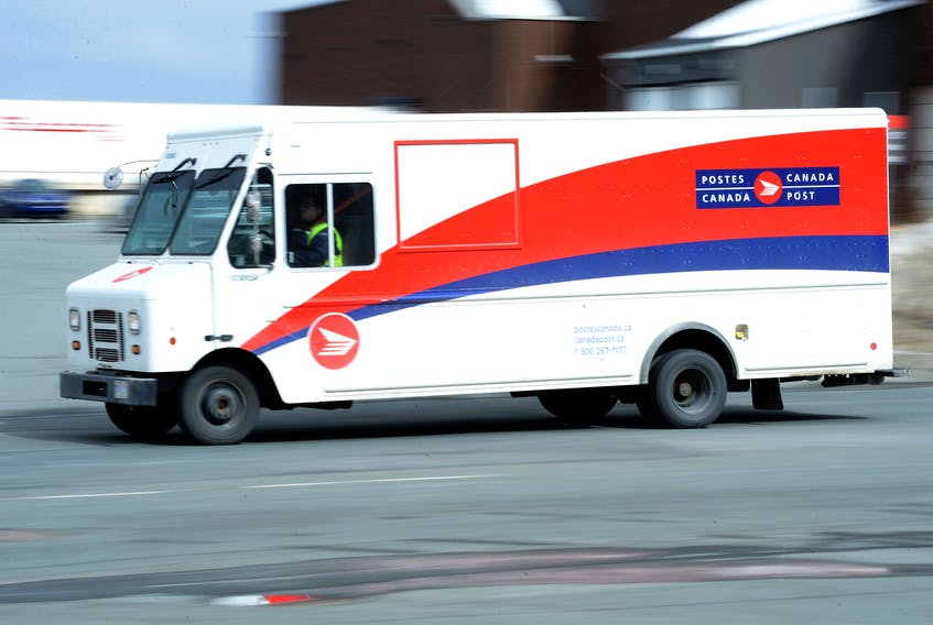 Canada Post says it's processing and delivering parcels at levels only experienced during the busiest weeks of the Christmas season. -Keith Gosse/The Telegram file photo