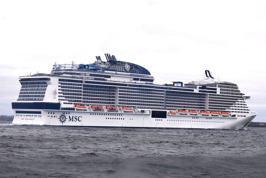 The MSC Meraviglia is shown entering Sydney harbour last October, the largest cruise ship to ever visit Cape Breton. DAVID JALA/CAPE BRETON POST