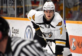 Cape Breton Eagles defenceman Adam McCormick set three team records during the 2019-20 regular season for his impressive plus-45 rating. McCormick is also one-point shy of second place for most assists by a defenceman in team history, a feat he could accomplish next season. JEREMY FRASER/CAPE BRETON POST