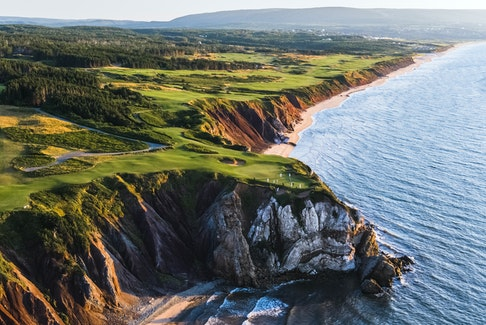 An aerial view of the world-renowned Cabot Cliffs golf course in Inverness, Cape Breton Island. CONTRIBUTED