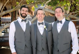 From left, brothers Mark, Michael and Matthew Keating s in April 2017. Now, Mark and Michael have launched the Three Brothers Project inspired by Matthew, who died later that year.  CONTRIBUTED