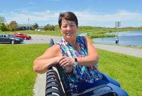 Charlene Hunter of Homeville relaxes at John Bernard Croak Memorial Park in Glace Bay, a spot she loves to bring her son John Hunter, 30, who is a resident of a group home for people with intellectual disabilities. Sharon Montgomery-Dupe/Cape Breton Post