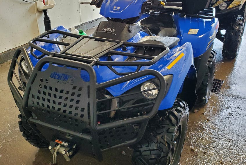 Police are looking for this 2020 Kawasaki Brute Force ATV that went missing from 185 Lamond St., Sydney Mines, between Sept. 18 and Sept. 23. CONTRIBUTED
