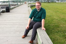 """Wesley Colford, artistic director of the Highland Arts Theatre, came out as non-binary during the Nova Scotia government's stay at home orders and they said the support they've gotten from the community, the theatre regulars and their partner has made the end of their journey to finding their identity """"much easier."""" NICOLE SULLIVAN/CAPE BRETON POST"""