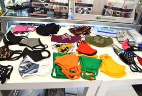 Some children's and adult's non-medical washable masks on display at Emerald Isle on Welton Street in Sydney. Sharon Montgomery-Dupe/Cape Breton Post