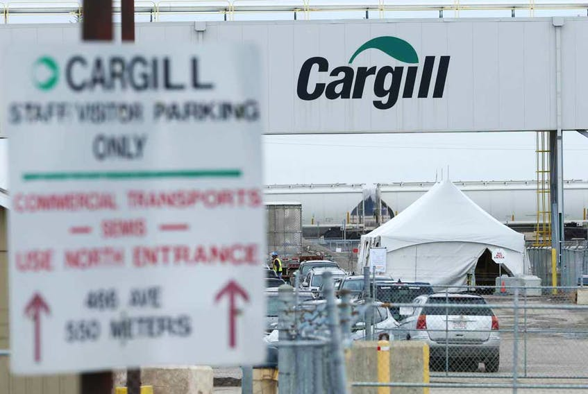 The Cargill plant north of High River, where more than 900 workers have come down with COVID-19.