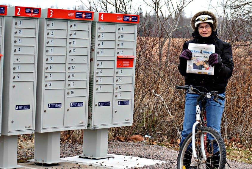Through rain, heat, sleet or snow, nothing has stopped Leona Quigley from delivering the Journal Pioneer newspaper along the Borden-Carleton route by bicycle, for 41 years. DESIREE ANSTEY/JOURNAL PIONEER
