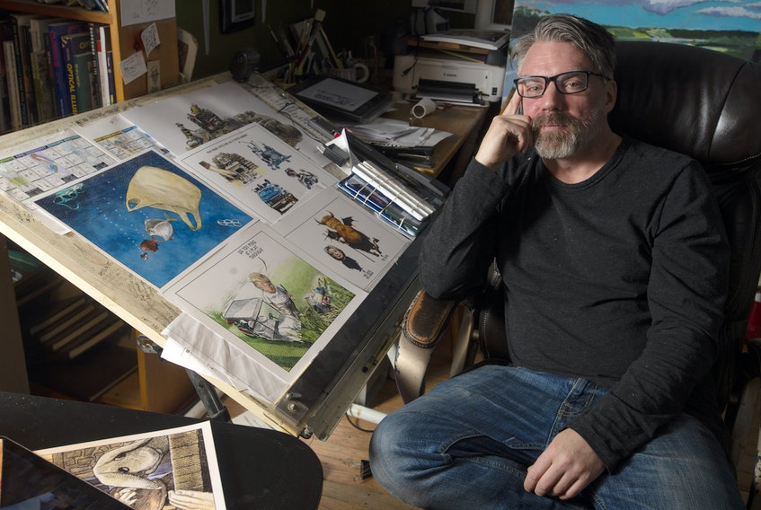 Cartoonist Michael de Adder is to receive an honorary degree from Mount Allison University. Ryan Taplin - The Chronicle Herald