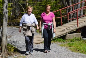 Gloria Ryan and Sharon Donovan enjoyed a recent walk around Sydney's Baille Ard Nature Trails. The two women are avid hikers.