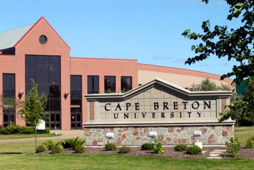 This file photo shows the sign near the entrance of Cape Breton University. CBU is getting additional money from the province after it emerged publicly that Acadia University has been receiving extra funding.