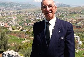Father Albert Maroun, who will be inducted into the Cape Breton Business and Philanthropy Hall of Fame on May 23, is seen during a recent trip to Lebanon.