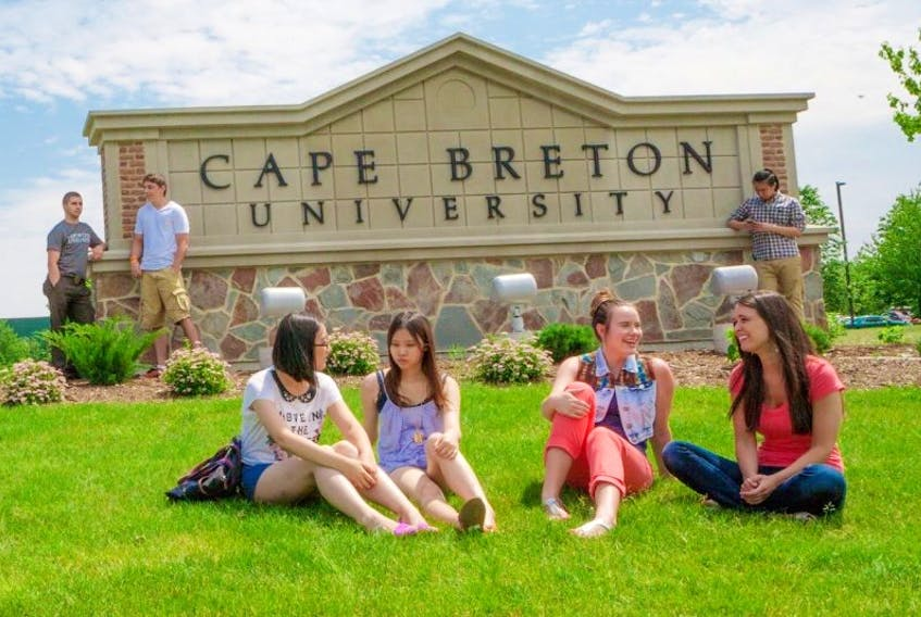 This file photo shows international students and domestic students interacting at Cape Breton University. Cape Breton's declining population means the local university is going further afield in its recruitment of international students. The post-secondary institution is targeting far-flung countries, including Vietnam and Brazil, in an effort to maintain its current level of enrolment.