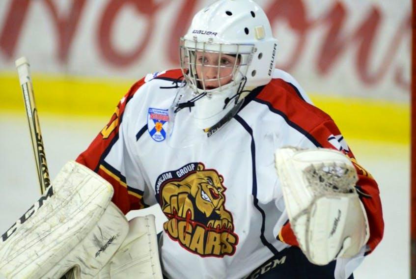 Goaltender Jack Cashen is one of four returning players on the roster for the Joneljim Cougars of the Nova Scotia Major Bantam Hockey League.