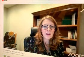 CBRM Amanda McDougall, shown during Tuesday's virtual council meeting on Zoom, was successful in getting council to approve her initiative to hire a Municipal Indigenous Officer and a Community Consultation Coordinator. DAVID JALA/CAPE BRETON POST