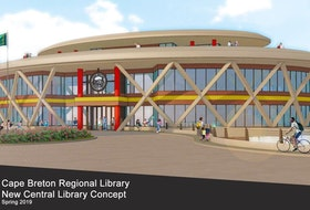 A concept by Trifos Design Consultants of Sydney of the proposed Sydney library, to be located along the Sydney waterfront. Contributed