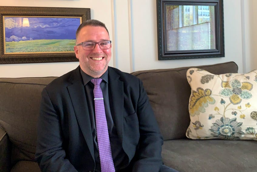 Dr. Simon Sherry, psychologist and professor at Dalhousie University, said people react differently to fear depending on their personality. He's pictured at his clinic in Halifax on Wednesday, Oct. 28, 2020.