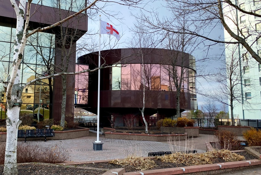 The CBRM council chamber at city hall is once again off limits as COVID-19 public health protocols dictate that Tuesday's meeting be held in the more spacious concourse of Centre 200. DAVID JALA/CAPE BRETON POST