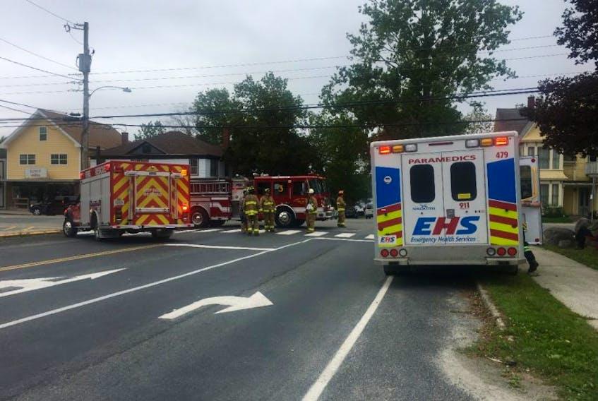 A woman was struck in a crosswalk in Shelburne on Sept. 22.