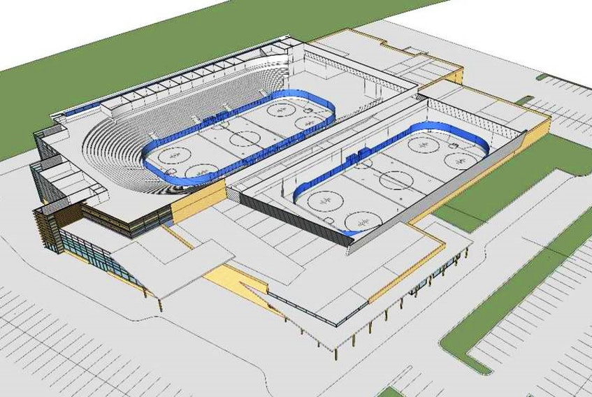 A task force has previously recommended the development of a 5,000-seat arena and a second arena seating 400 to 500 as part of a multi-use sports and events centre in Charlottetown.