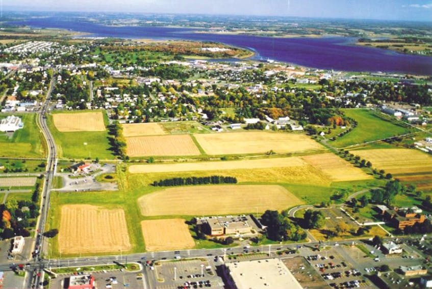 This undated aerial view shows the 88-acres of green space in the heart of Charlottetown known as the Experimental Farm.