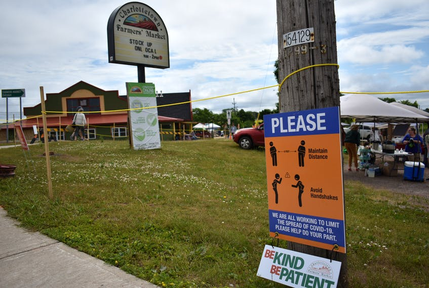 The Charlottetown Farmers' Market Co-op opened on July 4 for the first time since it suspended operations on March 14.