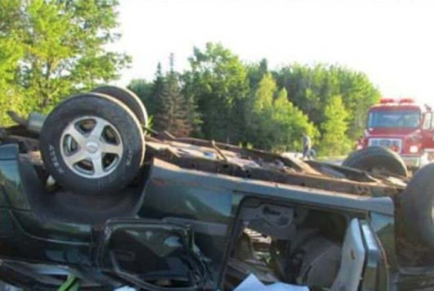 <span>FILE PHOTO: Maine State police posted this image to its Instagram account of a collision in Hampden, Maine last year. The driver of the tractor trailer involved in this collision is from Charlottetown and has been charged with aggravated driving to endanger.</span>