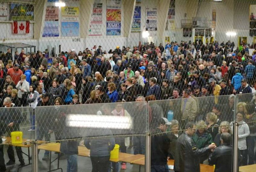 The Tignish Credit Union Arena's covered ice surface was near-packed last week for the Chase the Ace lottery. With 11 cards remaining and a jackpot already at $525,000 and growing, an even larger crowd is expected this Friday.