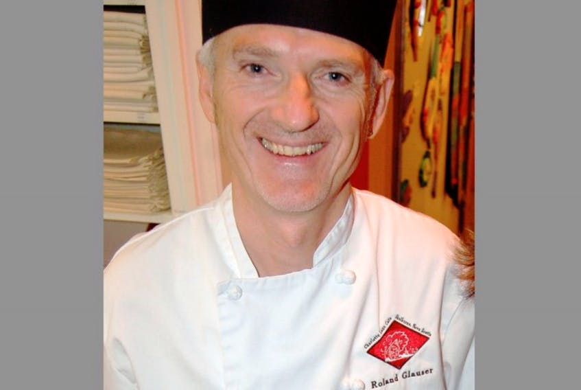 Roland Glauser, of Charlotte Lane Cafe, was one of 10 local chefs who faced-off on the culinary stage during the Saltscapes Expo from April 24 to 26