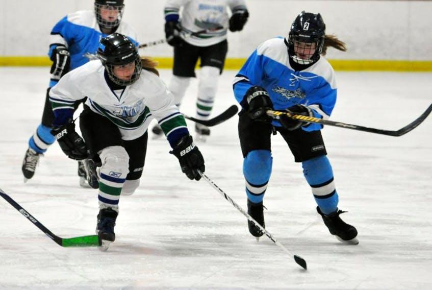 Yarmouth Chicks with Sticks tournament hits the ice in Yarmouth Oct. 24-26. TINA COMEAU PHOTO