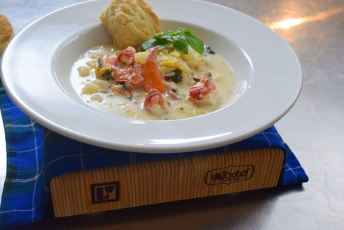 """Logan's Daily Catch worked with Chef Alain Bossé (The Kilted Chef) to develop a mouthwatering recipe using the seafood chowder packs, which Bossé calls """"an absolute delicacy. - Photo Contributed."""