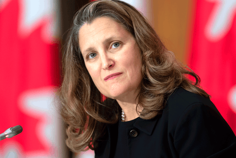 Federal Finance Minister Chrystia Freeland.