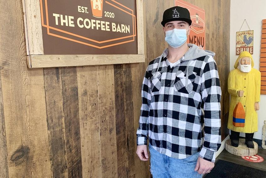 Gordie McInnis manages The Coffee Barn on Robie Street in Truro.