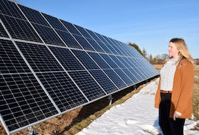 As the administrator of Colchester County's Solar Program, it is a happy day for Joanna Burris when home owners buy into the municipality's solar panel initiative, as the owner of this Valley property did last year.