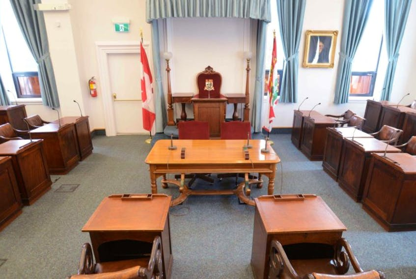 The P.E.I. legislature chamber at the Coles Building.