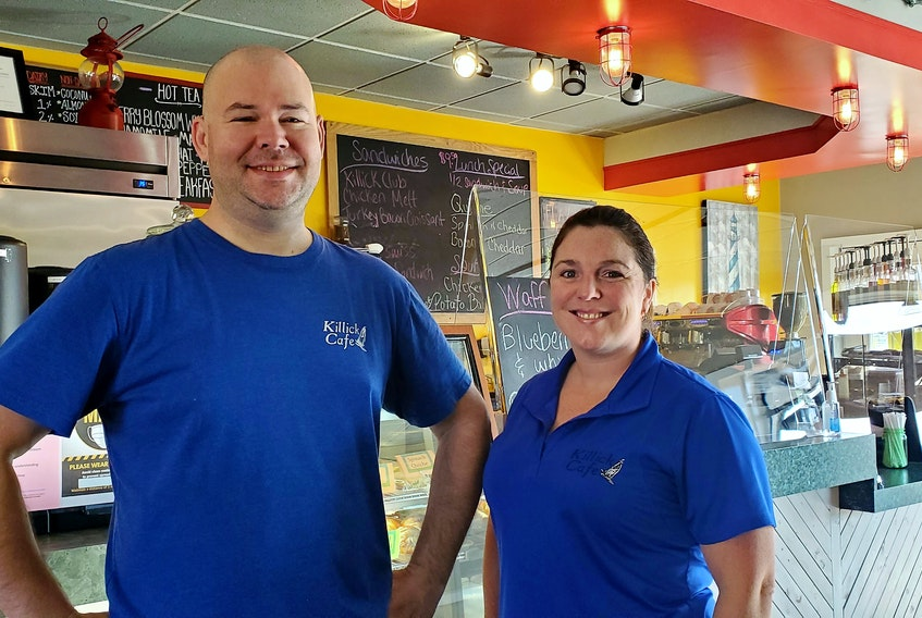 James Gallant, left, and his wife Colleen Gallant are the owners of the Killick Cafe in Stephenville.