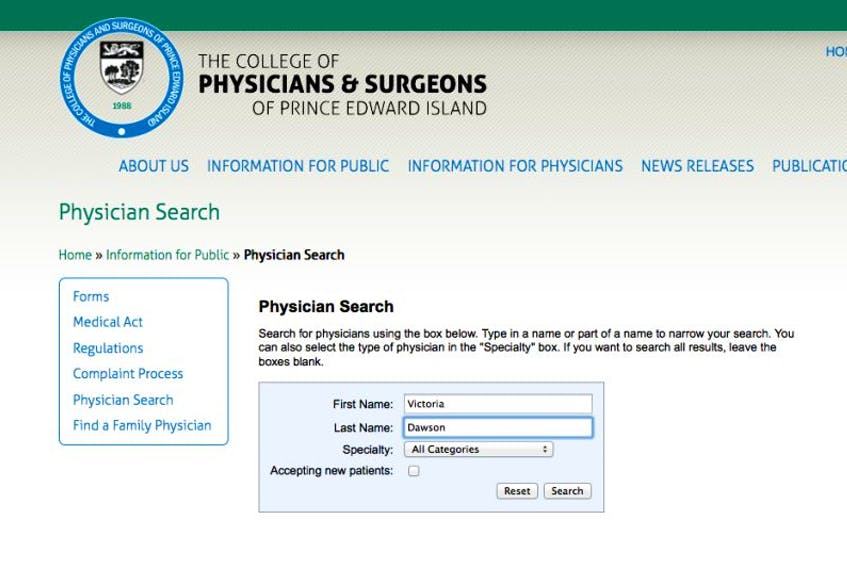 P.E.I. College of Physicians and Surgeons