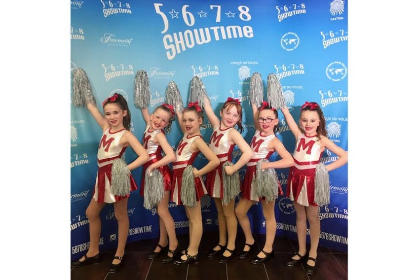 The Harbour Music and Dance Tap Class (from left) Emma Petten, Bryony Fowler, Paige Morgan, Sara Cummings, Paige Cormier and Ella Akerman.
