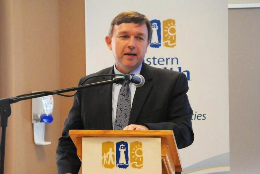 Eastern Health CEO David Diamond speaks at the regional health authority's 2017 AGM, held Wednesday at the Carbonear Long-Term Care Facility.