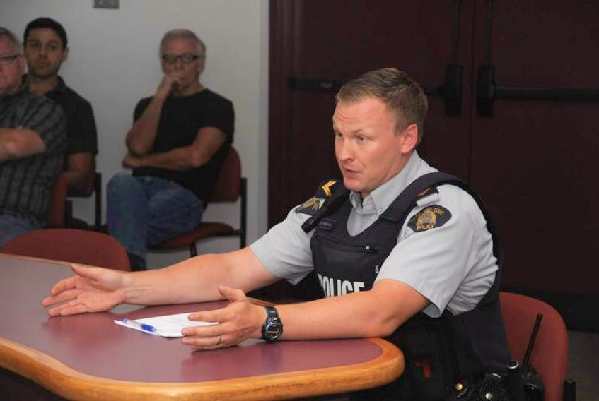 Harbour Grace RCMP Cpl. Dave Hopkins spoke at length with Carbonear council members about policing ATV drivers who break the law.