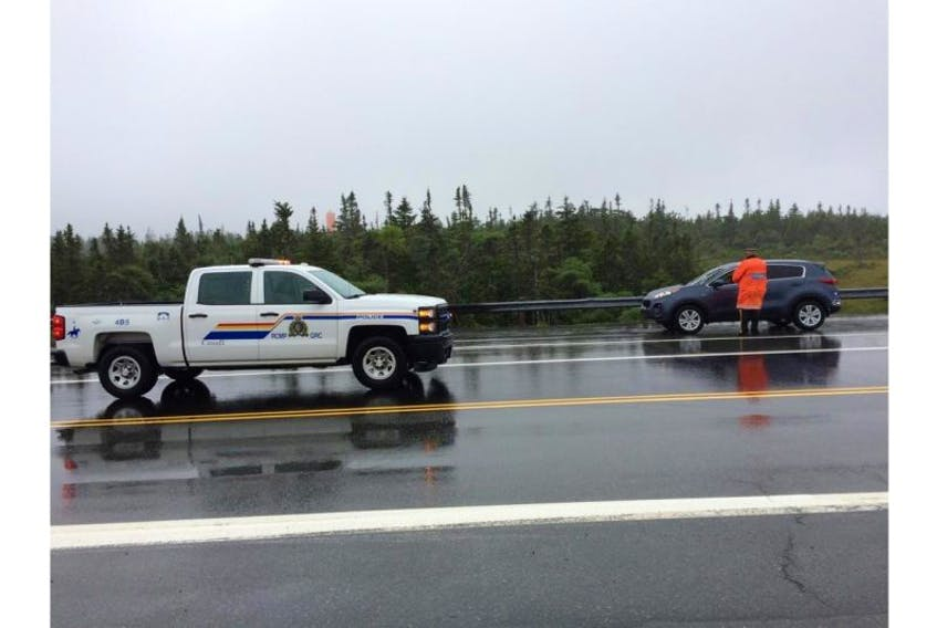 Bay Roberts RCMP has closed access to Veterans Memorial Highway between Makinsons and Roaches Line.